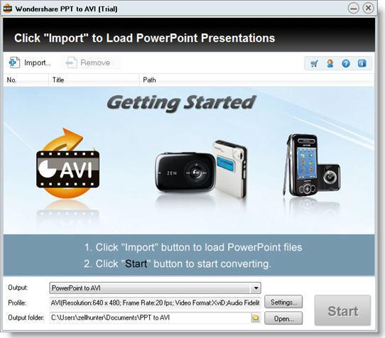 Wondershare PPT to AVI screenshot
