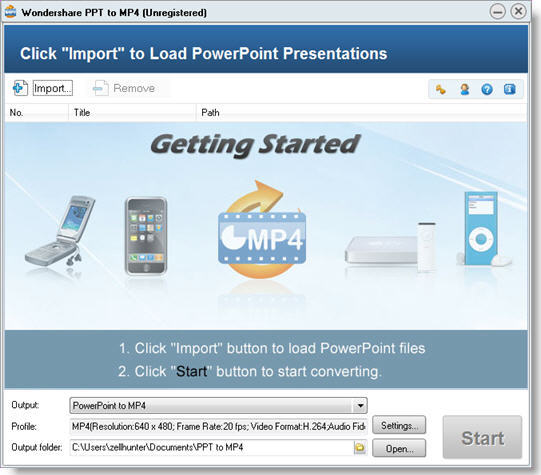 Wondershare PPT to MP4 screenshot