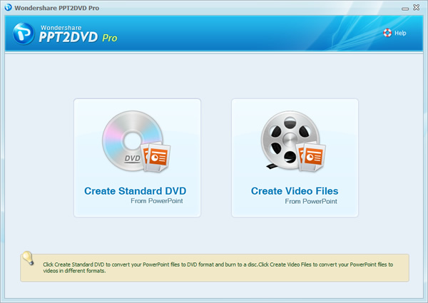 PPT2DVD is a powerful tool designed for converting PowerPoint presentations to DVD retaining animations, sounds, videos and even links between slides. It also empowers you to easily create eye-catiching DVD menus for quick easy navigation.
