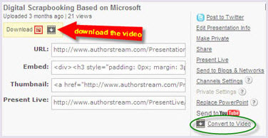 PowerPoint 2007 to DVD - Download the converted PowerPoint video