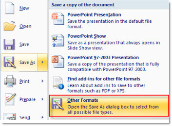 PowerPoint to movie with PowerPoint to video converter