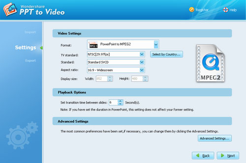 PPT to mpeg converter