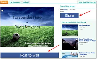 Share PowerPoint on Facebook