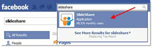 Add SlideShare to your Facebook