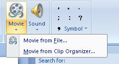 insert video clips into PowerPoint