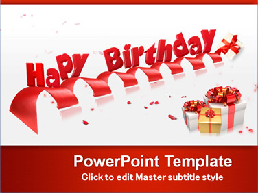 free happy birthday powerpoint templates, Powerpoint templates