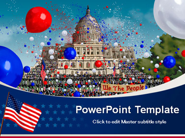 Free PowerPoint Templates - Free Independence Day PowerPoint Templates