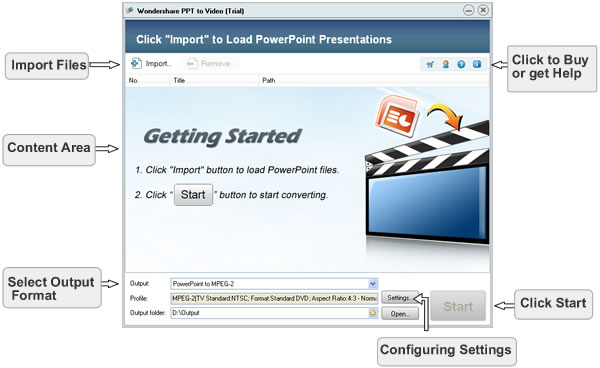 convert PowerPoint to video with Wondershare PPT to Video