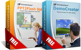 Make a video to choose a free license from PPT2Flash Std  / DemoCreator